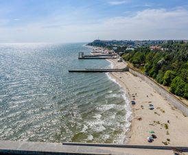 Панорамный вид в сторону центрального пляжа